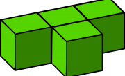 green Tetris block